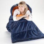Koppelbarer Deckenschlafsack Iceland in Blau Orange von Skandika