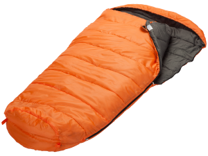 Orangefarbener Mumienschlafsack XXL Vegas von Skandika