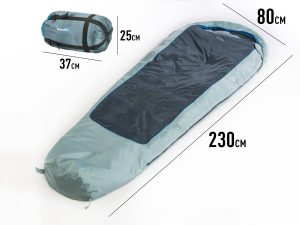 Blauer Skandika Sommer Schlafsack Nevada