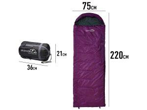 Maße des Skandika Skye Sommer Schlafsack