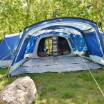 Vorderansicht ohne Frontwand des Zeltes Skandika Nimbus 12 Sleeper