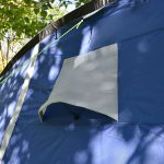 Ventilationsöffnung der Schlafkabine des Zeltes Skandika Nimbus 12 Sleeper