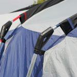 Seitliche Stahlstangen des Zeltes Skandika Nimbus 12 Sleeper