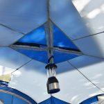 Lampenaufhängung im Zeltinneren des Zeltes Skandika Nimbus 12 Sleeper
