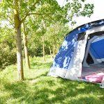 Hintereingang zur Schlafkabine des Zeltes Skandika Nimbus 12 Sleeper
