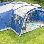 Außenansicht des Zeltes Skandika Nimbus 12 Sleeper Protect auf Wiese