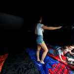 Zelt mit dunkler Schlafkabine Innenansicht | Skandika Nimbus 12 Sleeper Protect