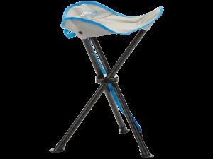 Grau blauer Campinghocker faltbar von Skandika