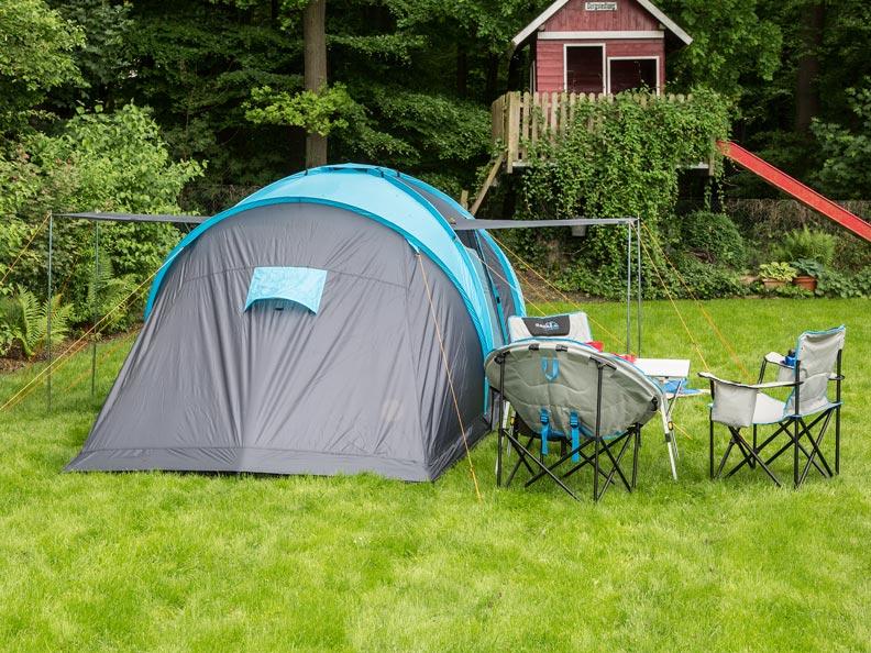 Skandika Hammerfest 4 Grey Coded Fibreglass Bedroom Tent Pole Run