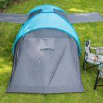 Außenansicht mit Sonnensegeln Hammerfest 6 Sleeper Protect