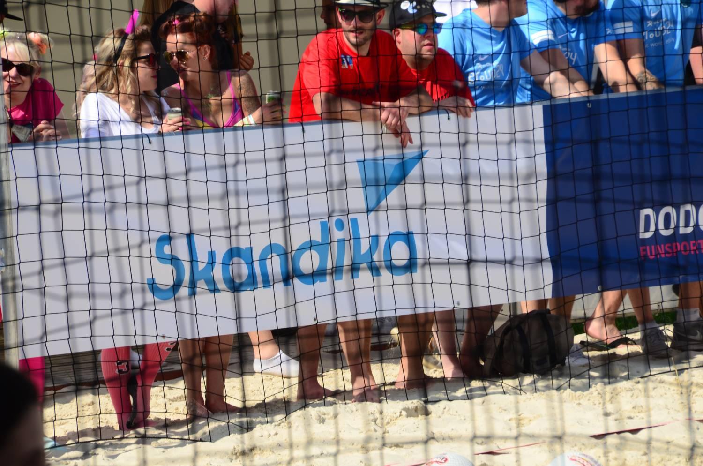 Dodgeball Beach Cup Banner Skandika