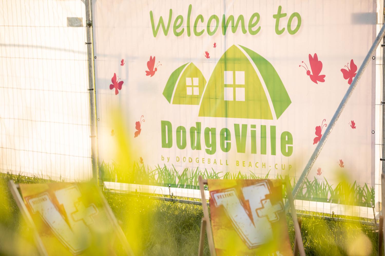 Dodgeville Banner beim Beach Cup