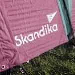 6 Personen Familienzelt Skandika Silverstone 6 XXL rose grün