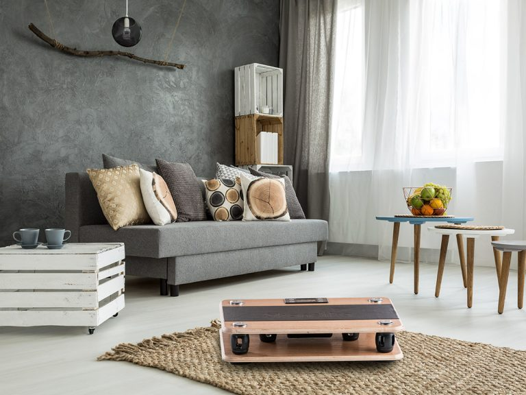 Holz Vibrationsplatte Virke im Wohnzimmer