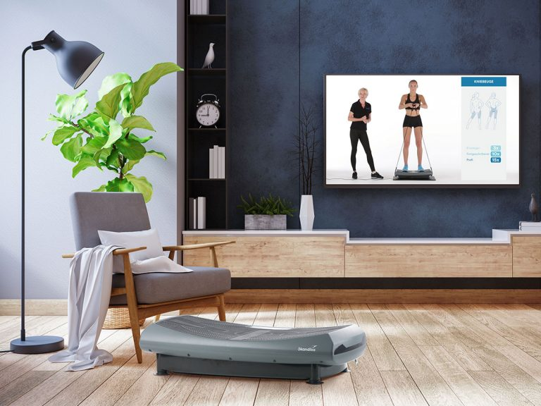 Vibrationsplatte mit Trainingsvideo - 4D Vibration Plate V2000