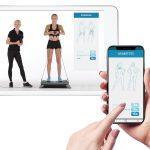 Trainingsprogramm auf dem Handy und Tablet für die Vibroplatte 4D Vibration Plate V2000