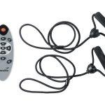 Fernbedienung und Trainingsbänder für die 4D Vibration Plate V2000