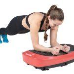 Sportlerin beim Training auf der 4D Vibrationsplatte V2500