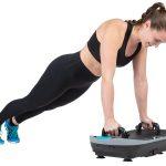 Trainingsbeispiel Liegestütz mit Trainingsgriffen auf der Skandika Vibration Plate V2
