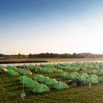 Skandika Zelte im Dodgeville von oben