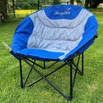 Skandika Camping Sessel Sirkka mit Getränkehalter im Garten