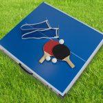 Skandika Kinder Tischtennisplatte mit 2 kleinen Tischtennisschlägern, Bällen und Netz