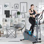 Sportlerin trainiert auf dem Skandika Crosstrainer Hjemme
