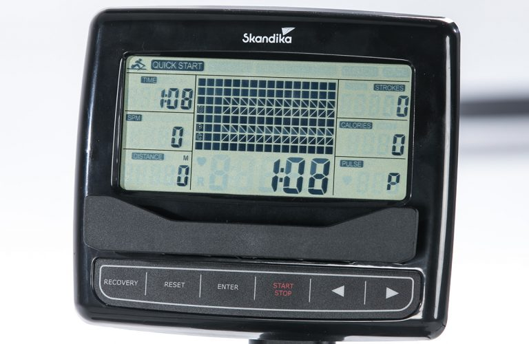 LCD-Display mit Zeit-, Puls-, Distanzanzeige und mehr - Skandika Wasser Rudergerät Nemo IV